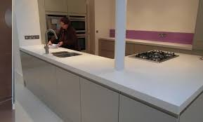 How Thick Is Corian 100mm Thick Corian Glacier White Worktops By Indigo Blue Works