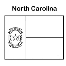 state flag of north carolina coloring page color luna