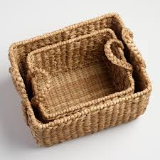 natural hyacinth rectangular molly baskets world market