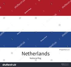 Flag Of Netherlands National Flag Netherlands Correct Proportions Element Stock Vector