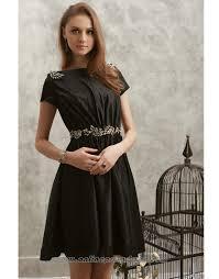 common short modern formal short sleeve summer prom dresses on