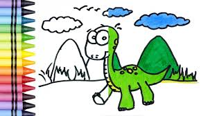 drawing dinosaurs coloring book for kids learn drawing coloring