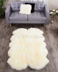 Sheepskin Area Rugs 4 Pelt Eggshell White Sheep Fur Rug Quatro Fursource