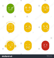 good mood colors smiles glyph color icon set silhouette stock vector 701008393