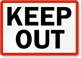 keep out sign with border sku s 2454