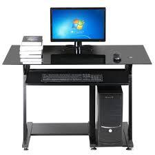Black Glass Top Computer Desk Cheap Black Glass Computer Desk Find Black Glass Computer Desk