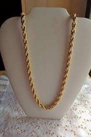 gold braided rope necklace images West germany gold rope chain necklace marked west germany cold jpg