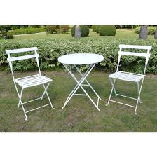 Green Bistro Chairs 3pc Patio Bistro Set White Threshold Target