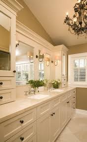distressed bathroom vanity with wood cabinets wall decor rustic