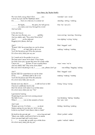 worksheet love story by taylor swift
