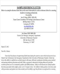 best ideas of sample reference letter for a student nurse about
