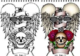 cross and skull by robbienordgren on deviantart