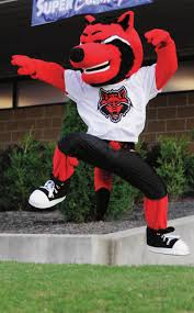 spirit halloween jonesboro ar arkansas state red wolves mascot college football mascots