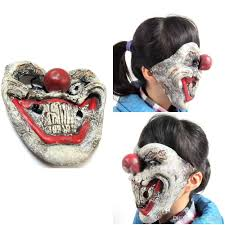 halloween horrible scary party mask latex funny clown jester mask