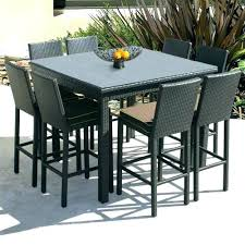 Patio Furniture Bar Sets Outdoor Pub Table Set Bar Height Patio Furniture Seats 8 Best Sets