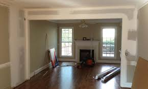 Laminate Flooring Removal Interior Remodeling And Wall Removal To Open Floor Plan