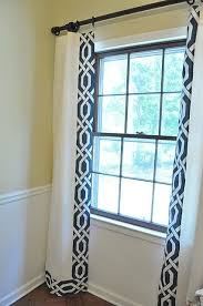 White And Navy Curtains Customized Store Bought Curtains Are A And Easy Project