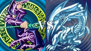 blue eyes white dragon vs dark magician game 1 youtube