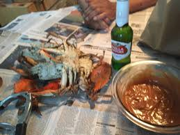 crabs over newspaper jpg
