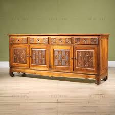 wooden cabinets for living room hand carving teak wood four door four drawers side cabinet living