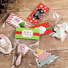cookie gift 2018 christmas plastic bags for candy cookie gift packaging bag