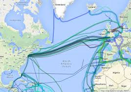 Map Of Ocean Currents Around The World In Submarine Internet Cable Musings On Maps