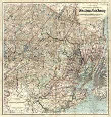 Map Of Essex County Nj Colton U0027s Topographical Road Map Of Northern New Jersey Including