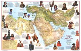 Nat Geo Maps 1972 Peoples Of The Middle East Side 1 Historical Maps
