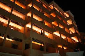the margi hotel exterior of the margi at night picture of the margi vouliagmeni