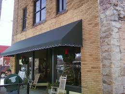 Outdoor Canvas Awnings Black Long Canvas Window Awnings With Mirror Windows And Brick
