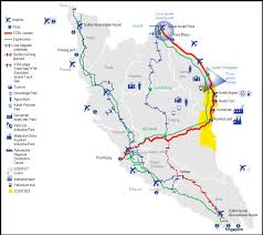 Route 70 Map by Potential Route For Malaysia U0027s East Coast Rail Link Revealed