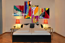 4 piece colorful home decor abstract photo canvas