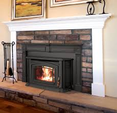 Cheap Pellet Stoves I Like This Pellet Stove With A Mantel Home Decor Updates