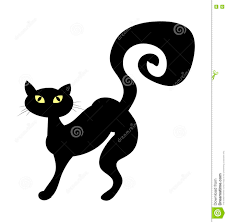halloween cat silhouette background halloween creepy scary witches cat vector symbol icon design