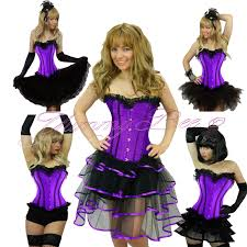 burlesque corset tutu fancy dress costume plus size 6 28 moulin
