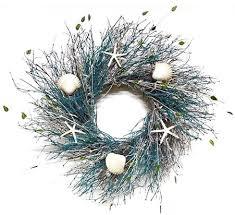 seashell wreath blue coral reef 21 22 inch summer decorative wreath