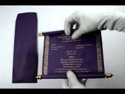 scroll wedding invitations s242 purple color scroll wedding invitations scroll invitations