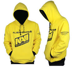 selling natus vincere navi cosplay top grade yellow hoodie