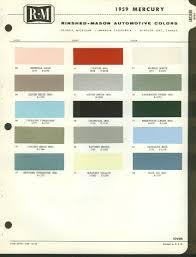 rinshed mason automotive color paint chip chart 1959 mercury