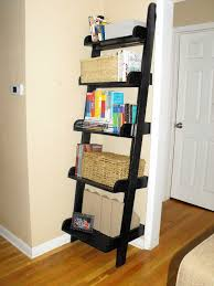 book case ideas decorating rustic ladder shape brown wooden bookcase built with