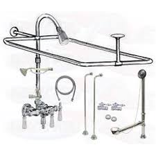 chrome clawfoot tub faucet add a shower kit kitchen u0026 bathroom