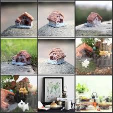 2018 diy zakka house figurines resin tiny garden bonsai