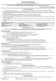 Latest Resume Format Latest Resume Format For Freshers Mba Hr