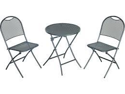 Sunvilla Bistro Chair Sunvilla Cologne Steel 3 Pc Mesh Folding Set In Black S215524 03