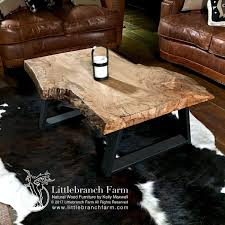 Natural Wood Furniture by Natural Wood Coffee Tables Rustic Coffee Table Littlebranch Farm