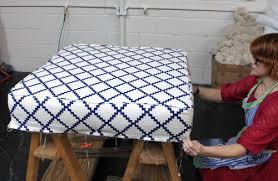 Upholster Ottoman Upholstery Basics Boxed Ottoman Design Sponge