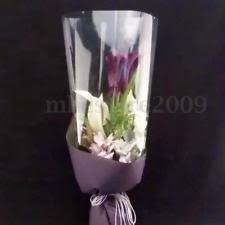 clear gift wrap 20m plain clear cellophane florist wrap rolls 80cm flowers