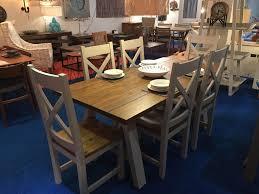 large trestle dining table new designer brand large trestle dining table 6 dining chairs