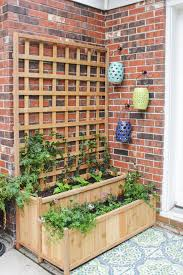 Garden With Trellis Tiered Planter With Trellis Shades Of Blue Interiors