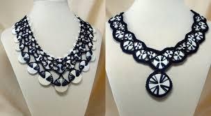 crochet necklace images Wonderful diy stunning crochet button necklace jpg